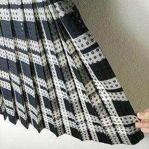 Vintage Escada Wool Blend Pleated Sequin Skirt